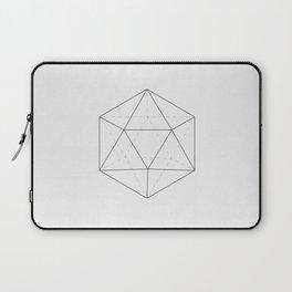 Black & white Icosahedron Laptop Sleeve