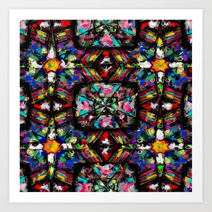 Ecuadorian Stained Glass 0760 Kunstdrucke