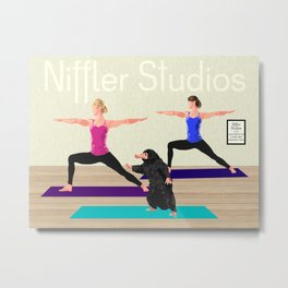 Niffler Yoga Studio Metal Print