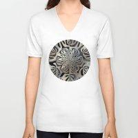 exo V-neck T-shirts featuring Exoskeleton  by Lyle Hatch