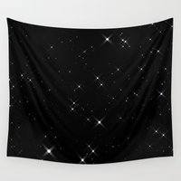 starry night Wall Tapestries featuring Starry Night by Indiezine