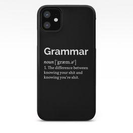 Grammar Definition iPhone Case