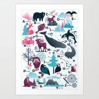 Alaska Alphabet Art Print