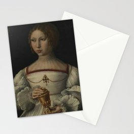 Jan Gossaert - Portrait of a young lady as Mary Magdalene Stationery Cards