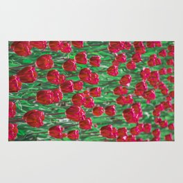 Tulip Love (red) Rug
