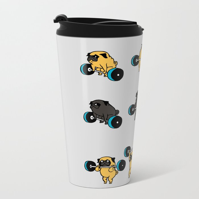 OLYMPIC LIFTING PUGS Travel Mug