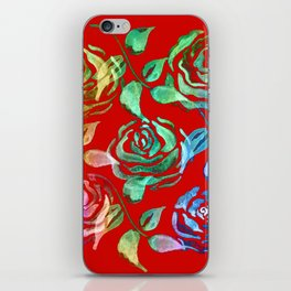 Roses Pattern ZZ iPhone Skin
