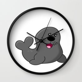 100 Days of School Survived 100 Days of Me Seal Wall Clock