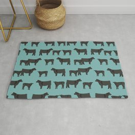 Angus Cattle breed farm gifts must have cow animal Rug