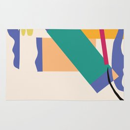 Matisse Inspired Colorful Collage Rug