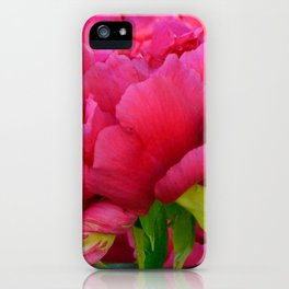 Dark Pink Tree Peony by Teresa Thompson iPhone Case