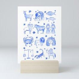 Blue Zodiac Mini Art Print