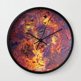 Fall Frenzy Wall Clock