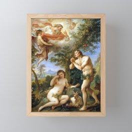 Charles-Joseph Natoire The Rebuke of Adam and Eve Framed Mini Art Print