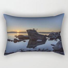 Bonsai Rock at Sunset Rectangular Pillow