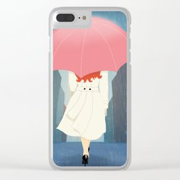 She Went Walking In The Rain Clear iPhone Case