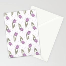 Lilac tulips Stationery Cards
