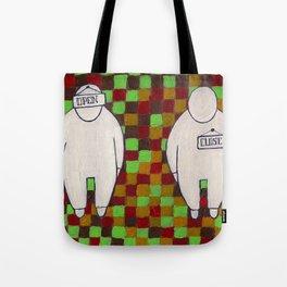 open-close Tote Bag