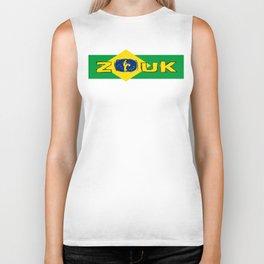 lets dance brazilian zouk flag design Biker Tank