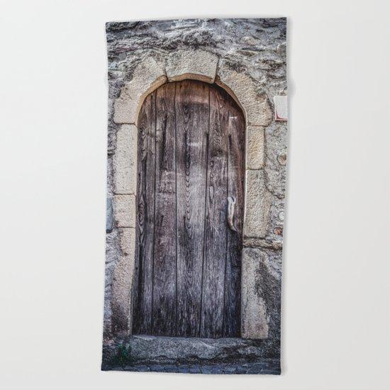 Old French Door Beach Towel