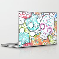 sugar skulls Laptop & iPad Skins featuring skulls sugar by wet yeti
