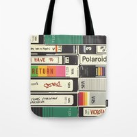 american psycho Tote Bags featuring American Psycho by r054