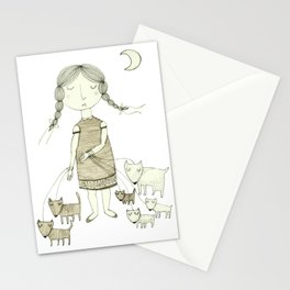 The Dog Walker.  Stationery Cards