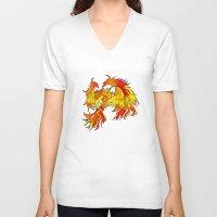 phoenix V-neck T-shirts featuring Phoenix by Rishi Parikh