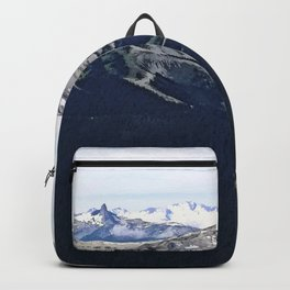 Mountain ridges and clouds Backpack