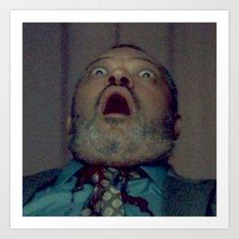 Scared Face Laurence Fishburn Art Print