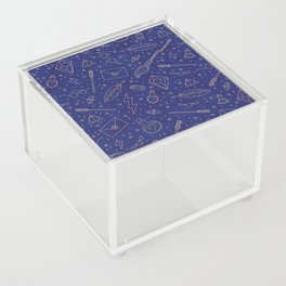 Yer a Wizard - Blue + Bronze Acrylic Box