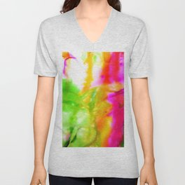 Abstract Bliss 5F by Kathy Morton Stanion Unisex V-Neck