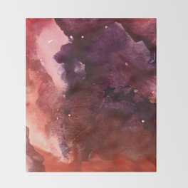 Starlight [2]: a pretty abstract watercolor piece in reds and purples by Alyssa Hamilton Art Throw Blanket