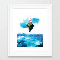 gorillaz Framed Art Prints featuring Lighthouse by Vadim Cherniy