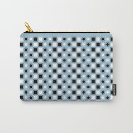 Circles and Squares Target - Blue Carry-All Pouch