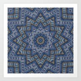 Jeans star kaleidoscope 3D Art Print