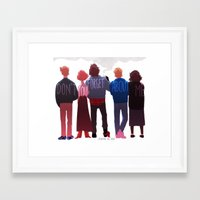 johannathemad Framed Art Prints featuring the club of five by JohannaTheMad