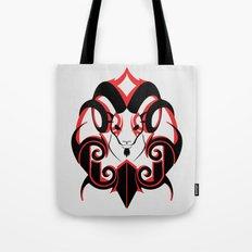 Warrior (Black & Red) Tote Bag