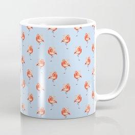 Feathery Friend Pattern - light blue Coffee Mug