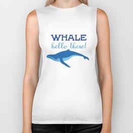 Whale Hello There! Biker Tank