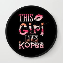 This Girl Loves Korea Oppa Kpop Kdrama Wall Clock