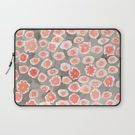 Watercolor flowers pink and gray by robayre Laptop Sleeve