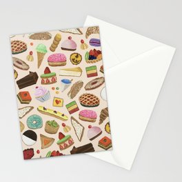 Desserts of NYC Cream Stationery Cards