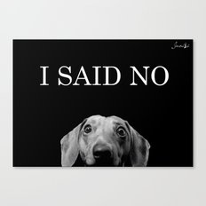 Féroce teckel said no! large colors fashion Jacob's Paris Canvas Print