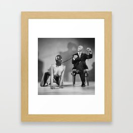 The Master - Nude woman in bdsm setting Framed Art Print