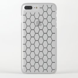 Honeycomb Black #378 Clear iPhone Case