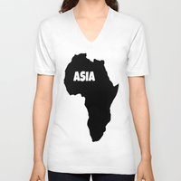 asia V-neck T-shirts featuring ASIA by AnacondaOnline.eu