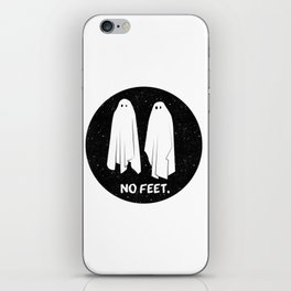 No Feet Ghosts Black and White Graphic iPhone Skin