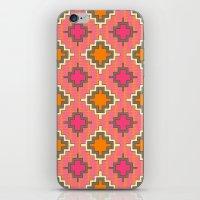 kilim iPhone & iPod Skins featuring tangerine kilim by Sharon Turner