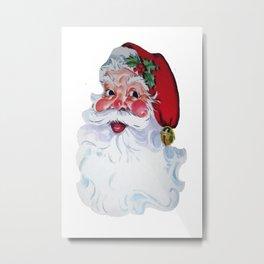 Vintage Style Jolly Santa  Metal Print